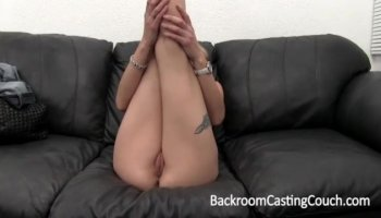 Lusty Zoey chokes on a massive boner