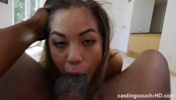 Black group gangbangs Hungarian beauty and creampies her ass