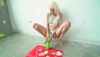 Males rough drilling fills hottie with pleasure
